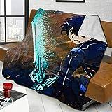 XIUZHEN Anime Sword Art Online Kirito Cosplay Manta Mixta, cálida y esponjosa, Elegante Manta de Cama de Lana de Cordero, colchas para sofá, Silla de decoración del hogar, 50 x 40 Pulgadas