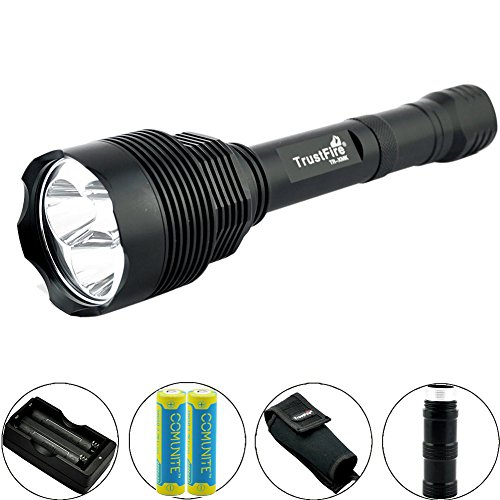 Super Bright 3800 Lumens 3 x CREE XM-L T6 LED Flashlight Torch with Holster, Charger, and 2X 18650 Battery (Included)