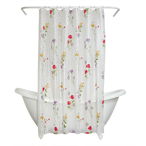 Zenna Home Duschvorhang, Wildblumen-Muster, Peva