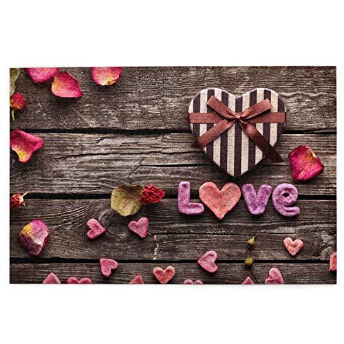 Rompecabezas de 1000 Piezas,Rompecabezas de imágenes,Palabra amor en forma de corazón el día de San Valentín,Juguetes puzzle for Adultos niños Interesante Juego Juguete Decoración Para El Hogar