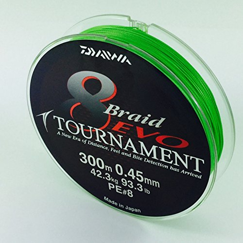 Daiwa Tournament 8 Braid EVO 0.16mm, 12,2kg/26,8lbs 300m chartreuse