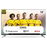 CHiQ U58H7A Smart TV 147 cm (58 Zoll Fernseher) Android 9.0, Smart TV,LED TV, UHD, WiFi, Bluetooth,...