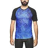 Sport HG-8321 Spike Camiseta de Manga Corta Ultraligera Hombre,Estampada (Line, L)