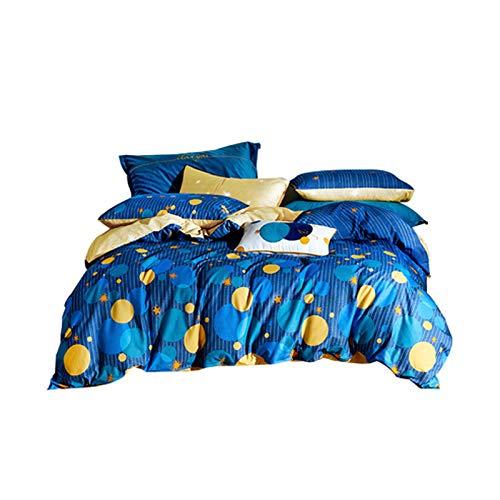 PHGo Der Bettbezug ist eine glänzende Galaxie, das Bettwäscheset besteht aus 100% Baumwolle, superweicher, Leichter, hypoallergener Mikrofaser