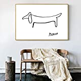 Picasso Abstrakte Bild One Stroke Nordic Poster Wand Bilder