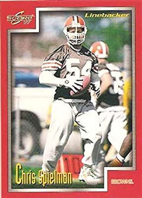 1999 Score Football #146 Chris Spielman Cleveland Browns Official NFL Trading Card From The Pinnacle Company