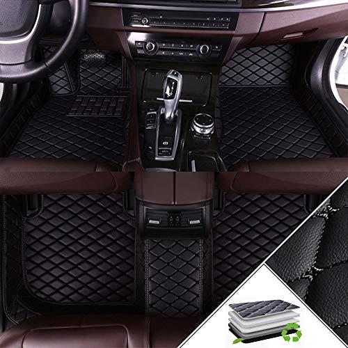 ALLYARD para VW Golf Variant 2008-2011 Moqueta a Medida Alfombrilla Coche Desgaste Antideslizante Juego de XPE Cuero Protección Envolvente Completa Alfombras Negro