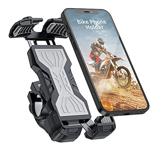 YockTec Soporte de teléfono móvil para bicicleta, ajustable 360°, para iPhone 12 Pro Max//11 Pro/XR/XS Max, Galaxy S20/S10/Note 10 y todos los 4,7-6,8 pulgadas