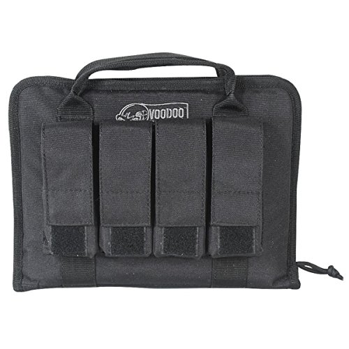 VooDoo Tactical 25-0017001000 Pistol Case with Mag Pouches, Black, One Size