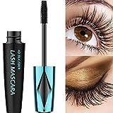 4D Silk Fiber Lash Mascara Waterproof, Long Lasting Eyelash Mascara, Silicone Brush Head