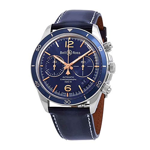 Bell & ROSS BR V2–94Aeronavale orologio da uomo brv294-bu-g-st/Sca