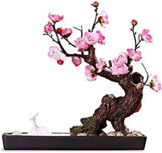 PAKUES-QO Artificielle Bonsaï Simulation Rose Prune Bonsaï Simulation Arbre Jardin Extérieur Décoration De La Maison Chino...