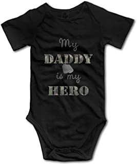 OASCUVER My Daddy is My Hero Toddler Baby Short Sleeves Jumpsuits