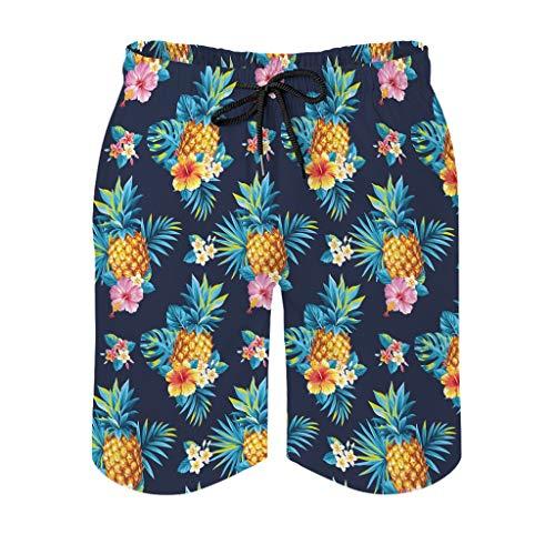 Ktewqmp Zomerzwembroek Ananasfrucht mannen zwembroek zwembroek heren zwemshorts met zakken polyester