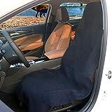 Cokomono Sitzschoner Auto, Wasserdichter Schonbezug für Autositz, universal Sitzbezug Auto Vordersitze Schutz vor Schmutz und Feuchtigkeit, Schwarz