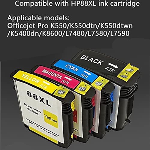 RICR Remanufactured Compatible El Reemplazo De Cartuchos De Tinta para HP 88 XL, Trabajo De Alto Rendimiento con OfficeJet Pro K550 K550DTN K550DTWN K5400DN K8600 L7480