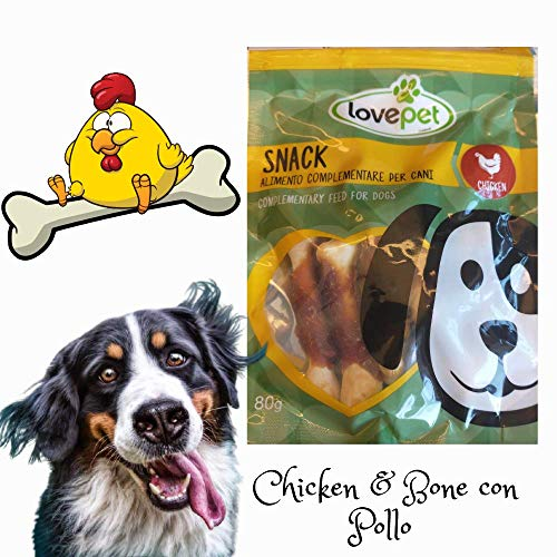 Snack Per Cani LOVE PET Chicken & Bone con Pollo e Merluzzo