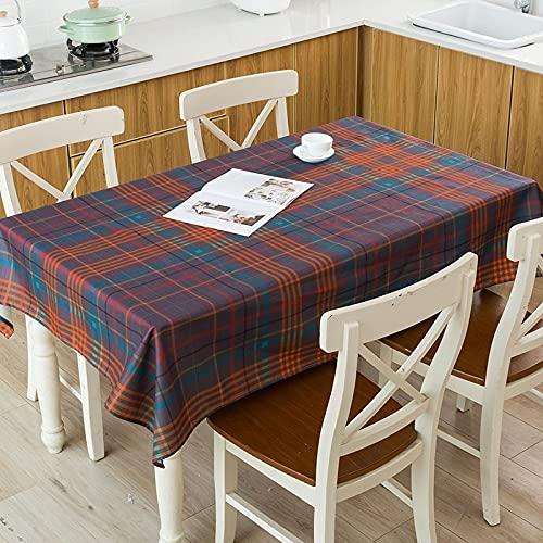 XXDD Rayas geométricas Flecha Cuadros Patrón de verificación Mesa Impermeable Hogar Cocina Hotel Escritorio Mantel Decorativo A7 140x200cm