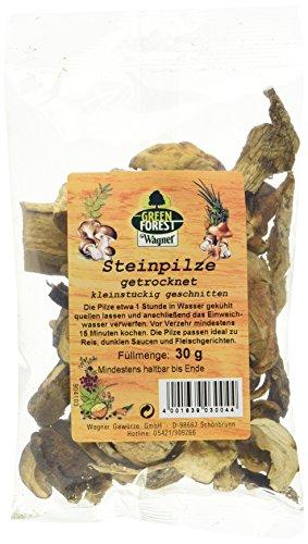 Wagner Green Forest getrocknete Steinpilze kleinstückig geschnitten im 5er Pack (5 x 30 g)