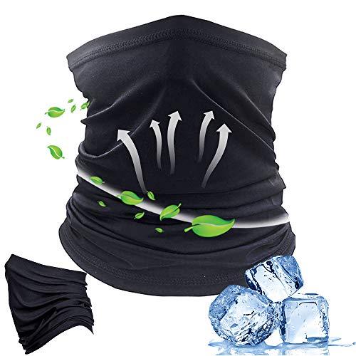 Braga Cuello Moto, Sombreros negro multifuncionale face shield bandana para hombre Mujer, A prueba de viento Cuello Polaco Pasamontañas Bufanda Sol UV Protección para Moto Ciclismo