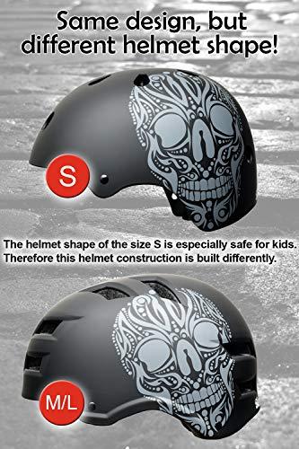 Skullcap® BMX Helm – Skaterhelm – Fahrradhelm – Totenkopf Helm – Herren Damen Jungs & Kinderhelm, schwarz, Gr. L (58 – 61 cm), Skull - 9