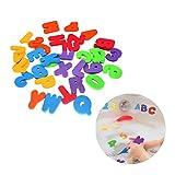 TOYMYTOY - 36 juguetes de baño con letras números para aprendizaje escolar
