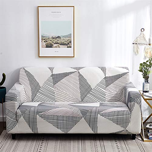 kengbi Easy To Install And Comfortable Sofa Cover Sofa Cover,string Printed Sofa Covers For Living Room Elastic Stretch Slipcover Sectional Corner Sofa Covers 1/2/3/4-seater