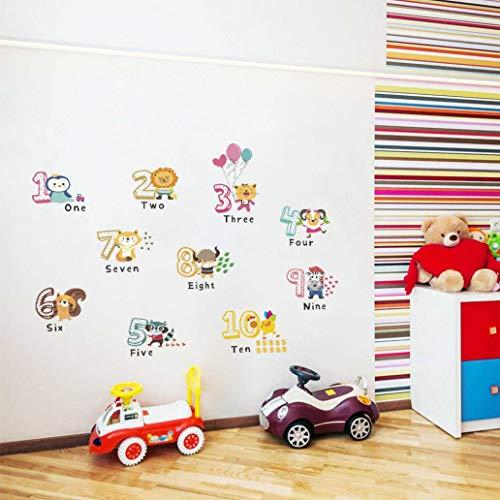 Bodhi2000 - Adhesivo de pared para habitación infantil, diseño de animales de dibujos animados