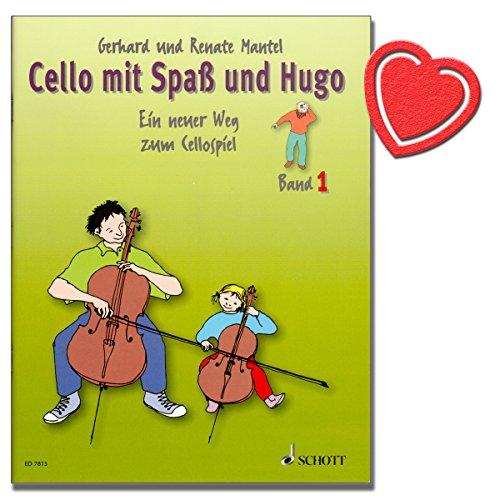 Cello mit Spaß und Hugo Band 1/Celloschule wendet sich an den Einzel- und Gruppenunterricht mit Kindern von 5-10 Jahren. [ mit herzförmiger Notenklammer ]- ED7815 9783795751739