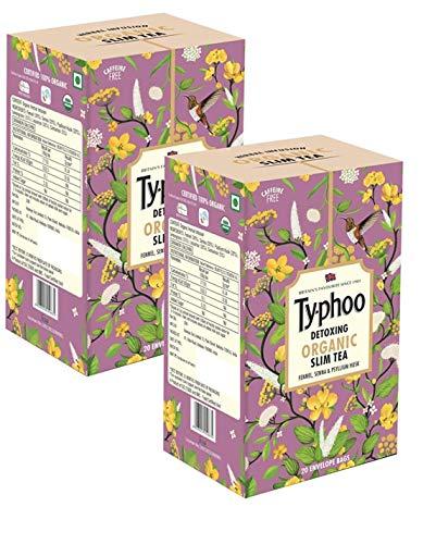 Typhoo Detoxing Organic Slim Tea - 40 envelope bags ( 2 Packs of 20 bags in each)