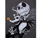 Pinturas Oleo Kits Manualidades - Calavera De Halloween - DIY Regalos Pinturas para Lienzo Pinturas con Numeros para Adultos