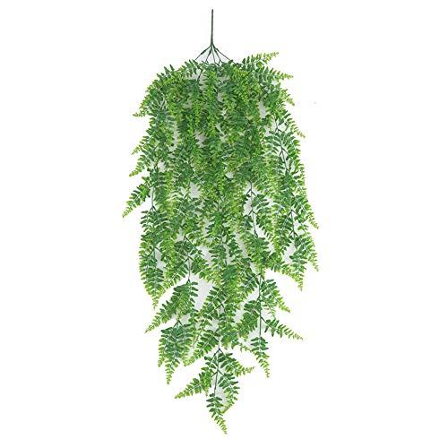 KPOON Decorative Artificial Plants Ivy Leaf Artificial Flower Plastic Green Plant Garland Vine Artificial Flowers For Home Wall Decor Home Garden Window Decor