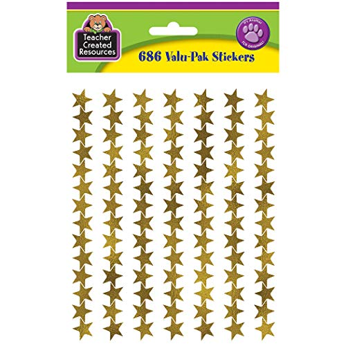 Teacher Created Resources Gold Foil Star Stickers Value-Pak (5799)