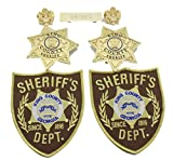The Walking Dead King County Sheriff Badges &Patches &Name bar &Collar pins Gold