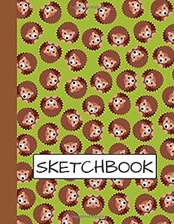 Sketchbook: Cute Hedgehog Blank Journal for Kids