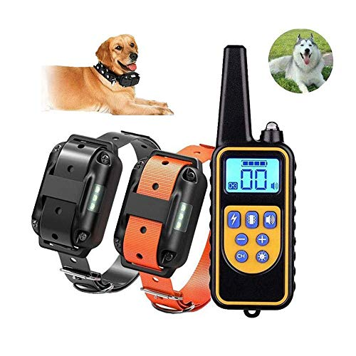 JWR Hundetraining Kleidung Krawatte Fernbedienung Anfänger, Ultraschall Hund Repeller Bark Stopper, Anti Bellen Stop Bark Dog Trainingsgerät,Two