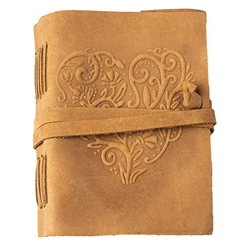 Leather Journal for Women - 240 Pages Kraft Paper Beautiful...