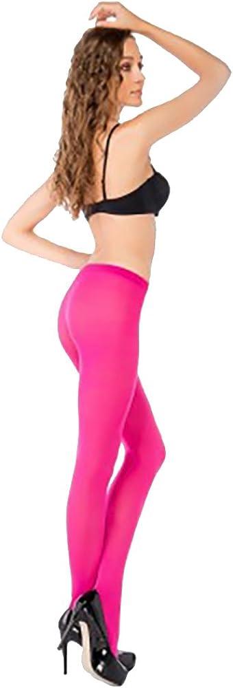Penti Women's 40 Denier Microfibre Ladder Resistant Opaque Tights Medium/Large Pink