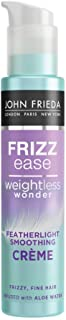 JOHN FRIEDA Frizz Ease Weightless Wonder Featherlight Smoothing Creme, 100ml - Instant frizz-control and smoothness
