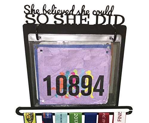 Race Bib and Medal Display -
