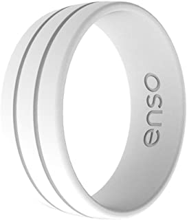 Enso Rings Ultralite Silicone Wedding Ring – Men's Hypoallergenic Wedding Band – Comfortable Band for Active Lifestyle - M...