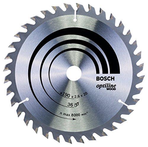 Bosch Professional Kreissägeblatt Optiline Wood (für Holz, 190 x 20 x 2,6 mm, 36 Zähne, Zubehör Kreissäge)