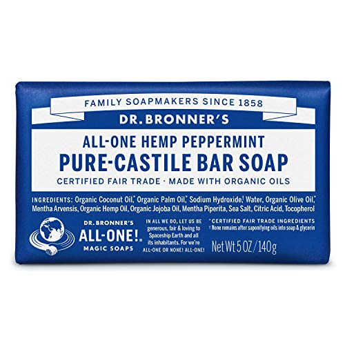 Dr. Bronners Bar Peppermint 140 gram (Seife)
