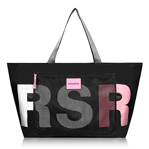 ROSA&ROSE Bolsos Totes para Mujer Impermeable Hombro Bolso Grande Cremallera Bolso Shopper