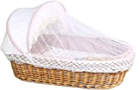 LZWH Baby basket portable combed cotton fabric shopping basket bed, out of the car basket cradle bed, size: 90 * 45 * 23cm, applicable age: about 0-12 months,Honey lattice
