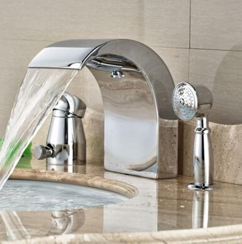 Maifeini Verchromtes Messing Fllt Badezimmer Verfügt über Eine Badewanne Faucet DiGrüner Mit Auszug Aus Der Dusche,Klar