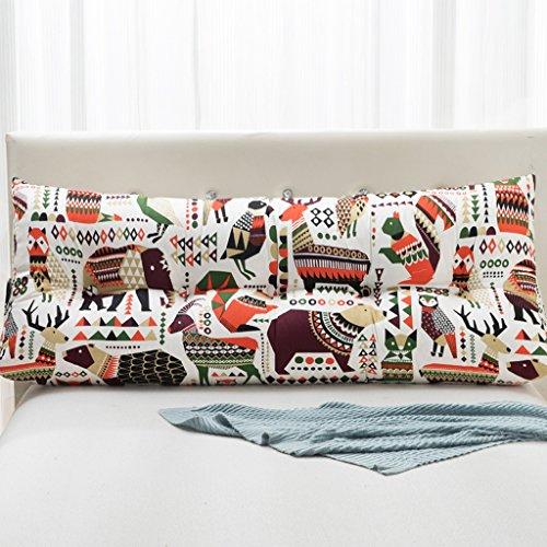 WOFULL Oreiller lit double/coussin dorsal, amovible, chevet/canapé/bureau/disponible pour la taille/oreiller de lecture (Couleur : F, taille : 22 * 50 * 120cm)