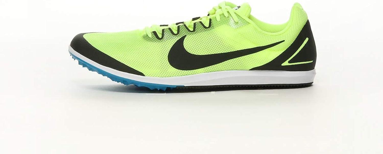 Nike Unisex Zoom Rival D Track shoes Racing Distance Spike, Neon Volt Yellow Black, Size Women's 11.5 (M), Men's 10 (M) US