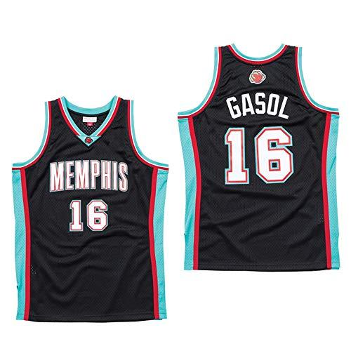 Camiseta Baloncesto Jersey NBA Masculino PAU Gasol # 16, Transpirable Resistente Al Desgaste Bordó La Camiseta De La Camiseta + Pantalón Corto, XS-XXL, FHI071IHF (Size : M)