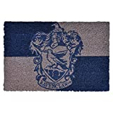 HARRY POTTER Felpudo Ravenclaw Emblema 60x40x1,5cm Coco Azul Gris